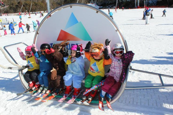 Cute Kids Learn to Ski at Thredbo